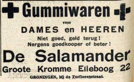 1935 Gummiwaren de Salamander 1935